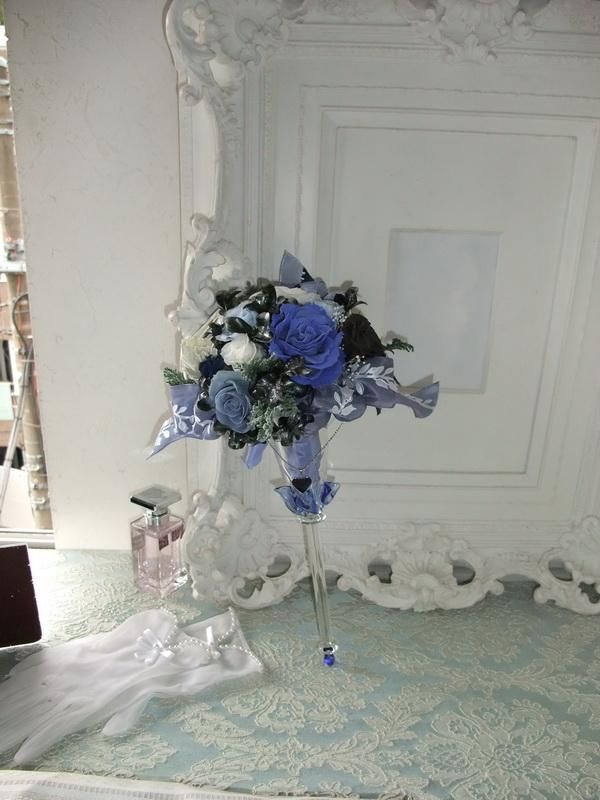 画像1: ガラスのブルーブーケ