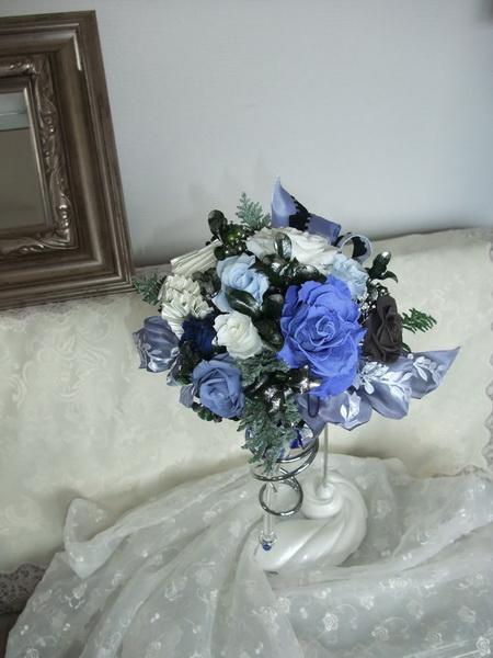 画像3: ガラスのブルーブーケ